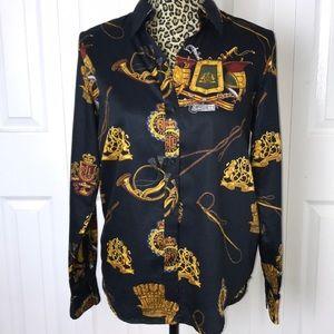 Lauren by Ralph Lauren Print button down shirt
